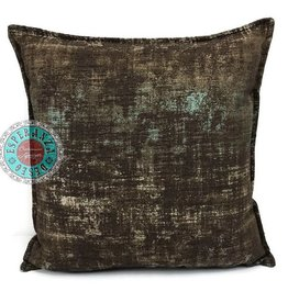 esperanza-deseo Throw pillow industrial brown 40 x 40