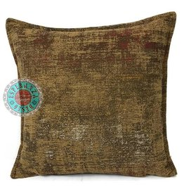 esperanza-deseo Throw pillow industrial ocher 40 x 40