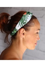 Love Ibiza Hair band Palm / flamingo print, back is with elastic