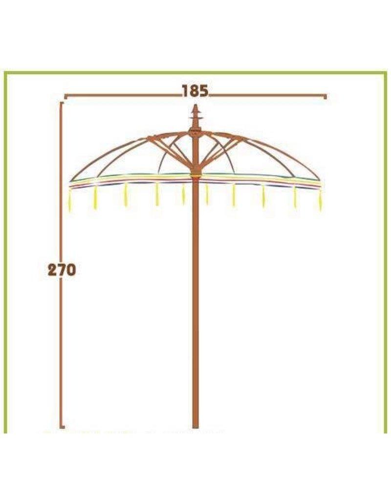 Damn parasol groot pink