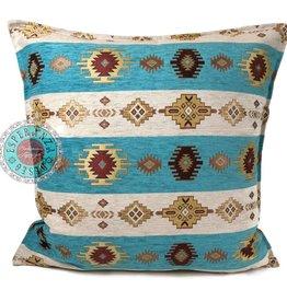 esperanza-deseo Aztec white stripes pillow case / cushion cover ± 45x45cm