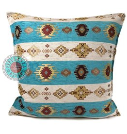 esperanza-deseo Aztec white stripes pillow case / cushion cover ± 45x45cm