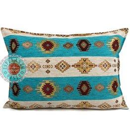 esperanza-deseo Aztec white stripes kussenhoes 50x70cm