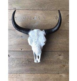 Damn Skull 40 cm white