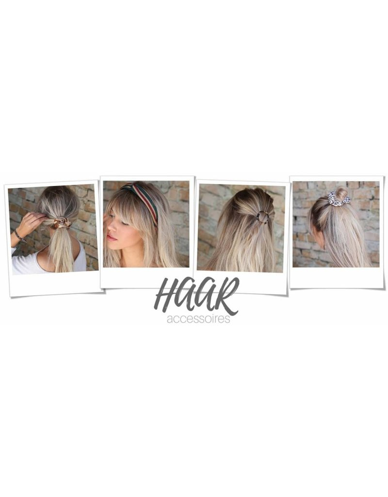Love Ibiza Velvet band for the hair, back is with elastic