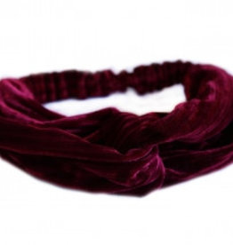 Love Ibiza Velvet hair band wine