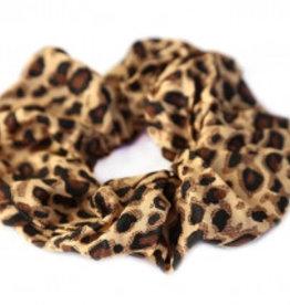 Love Ibiza Cotton scrunchie leopard dark brown - Copy