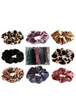 Love Ibiza Cotton scrunchie leopard dark brown - Copy - Copy
