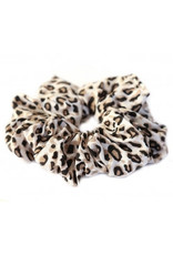 Love Ibiza Cotton scrunchie leopard naturel
