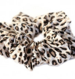 Love Ibiza Cotton scrunchie leopard naturel