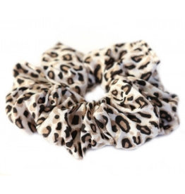 Love Ibiza Cotton scrunchie leopard dark brown - Copy - Copy