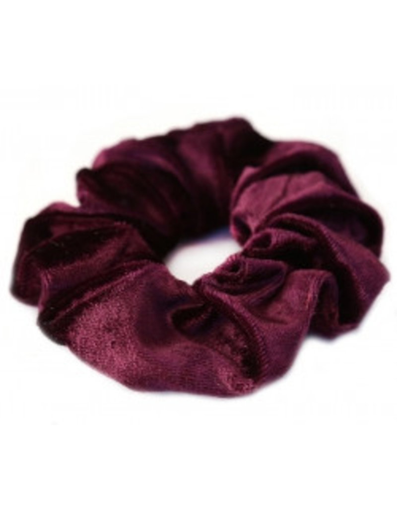 Love Ibiza Velvet scrunchie wine