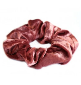 Love Ibiza Velvet scrunchie Rose