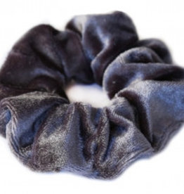 Love Ibiza Velvet scrunchie grey-blue