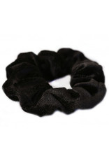 Love Ibiza Velvet scrunchie black