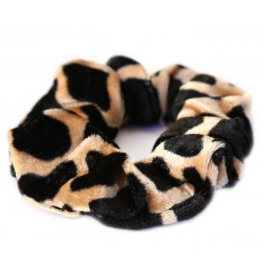 Love Ibiza Velvet scrunchie cheetah