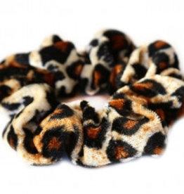 Love Ibiza Velvet scrunchieleopard blond