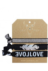 Love Ibiza Feather silver set van 3