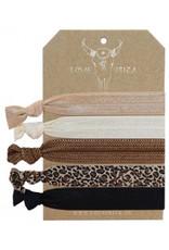 Love Ibiza Jungle set of 5 bracelets / hair bows