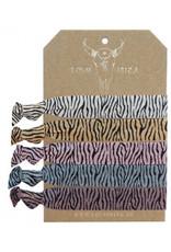 Love Ibiza Zebra set van 5 armbandjes/haarelastiekjes