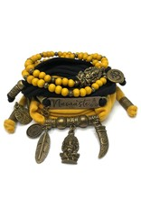 esperanza-deseo Set Ganesha - Namaste black and oker (yellow)