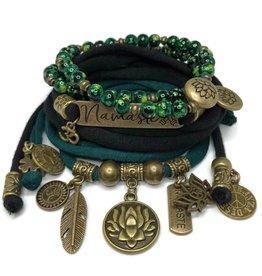 esperanza-deseo Set Lotus Flower and Namaste - black and dark green