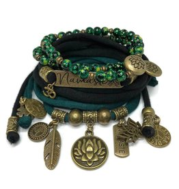 esperanza-deseo Set Lotus Flower and Namaste - black and dark green
