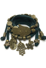 esperanza-deseo Set Hamsa dark green