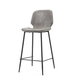 By-Boo Bar chair Seashell high - grey