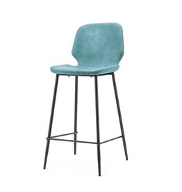 By-Boo Bar chair Seashell high - blue
