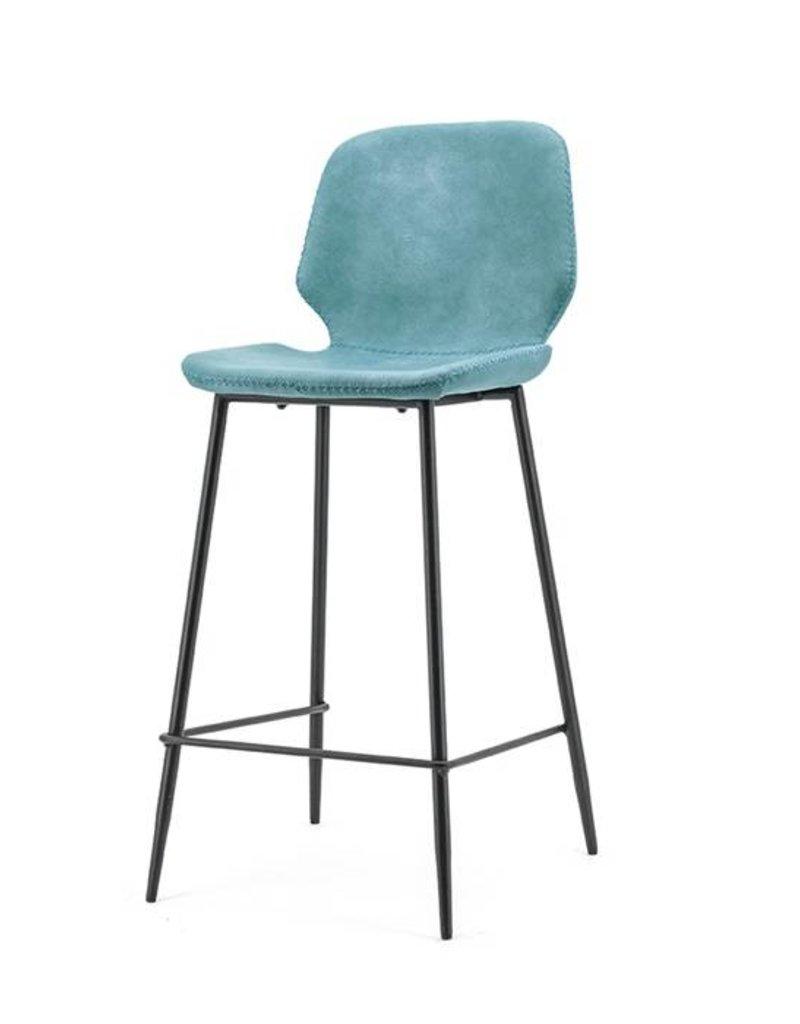 By-Boo Bar chair Seashell high - blue