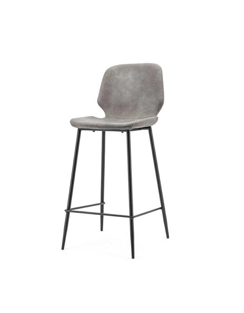 By-Boo Bar chair Seashell low - grey