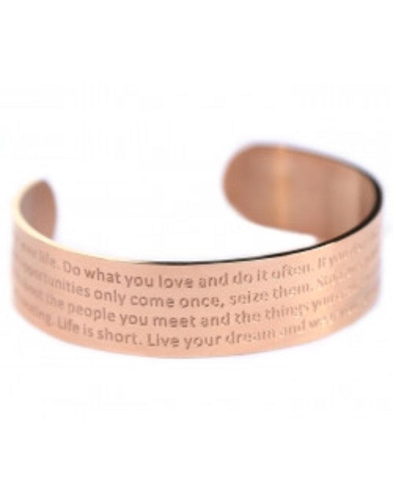 Love Ibiza Life bracelet Bronze