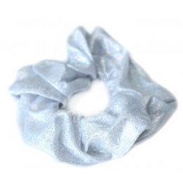 Love Ibiza Metallic scrunchie silver