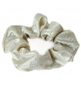 Love Ibiza Metallic scrunchie ivory gold