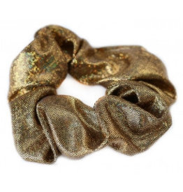 Love Ibiza Metallic scrunchie bronze