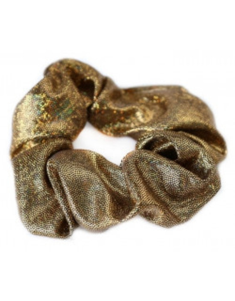Love Ibiza Metallic scrunchie bronze