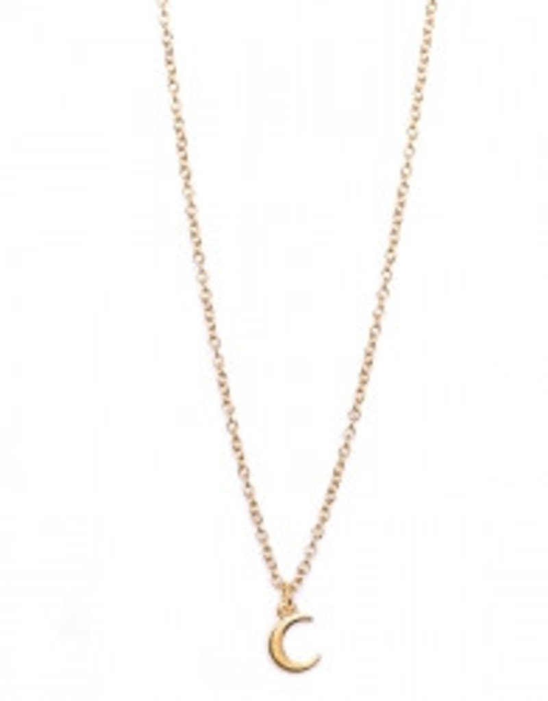 Love Ibiza Ketting maan gold