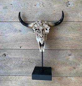 Damn Skull kruis op standaard ingegraveerd
