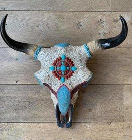 Damn Skull mosaic ingelegd