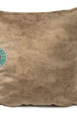 esperanza-deseo Velvet kussen licht walnoot  bruin 45 x 45 cm