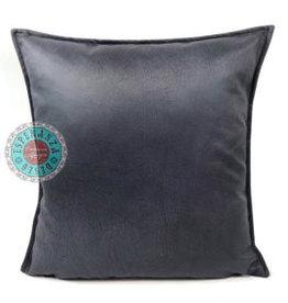 esperanza-deseo Velvet kussen metallic antraciet grijs 45 x 45 cm