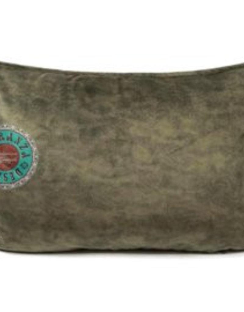 esperanza-deseo Velvet kussen olijfgroen 50 x 70 cm