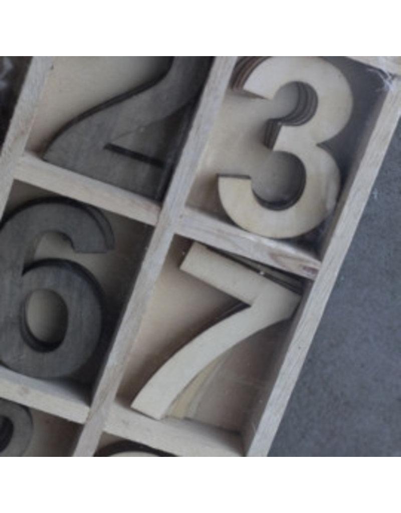 Damn Houtenletterbak5 x 12 cijfers