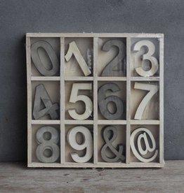 Damn Houten letterbak 5 x 12 cijfers