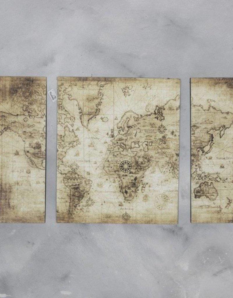 Damn Wandpaneel drieluik wereld