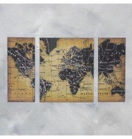 Damn Wall panel triptych world - Copy - Copy - Copy