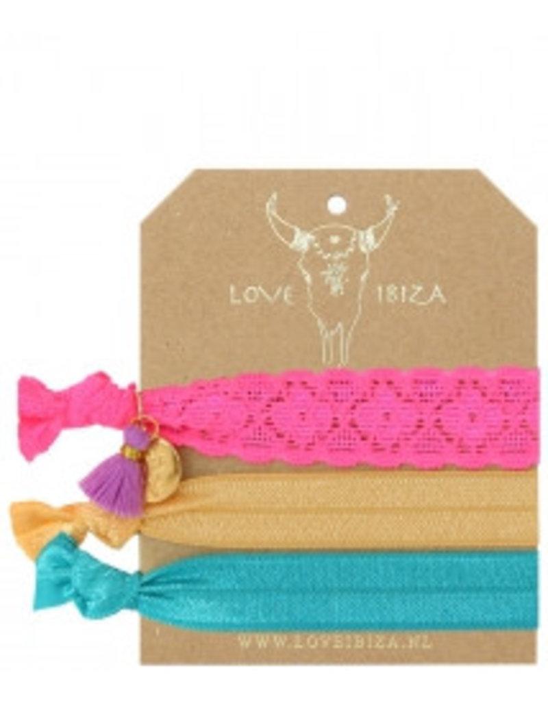 Love Ibiza Marble Set of 3 hair bows / bracelets - Copy - Copy - Copy - Copy - Copy - Copy