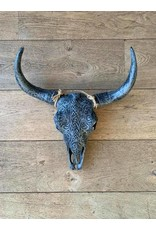 Damn Skull 40 cm  antraciet
