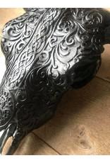 Damn Skull bedrukt groot 64 cm zwart